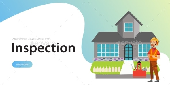 Inspector Standing Near House with Tools Poster - Buildings Objects