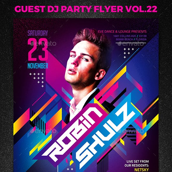 Guest DJ Party Flyer vol.22