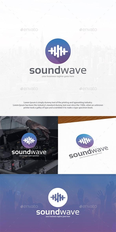 Sound Wave Logo Design - Vector Abstract