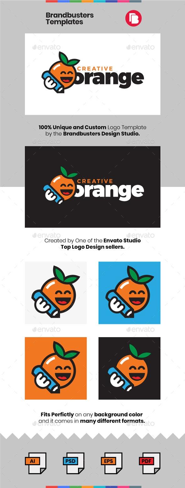 Creative Orange Logo Template - Vector Abstract
