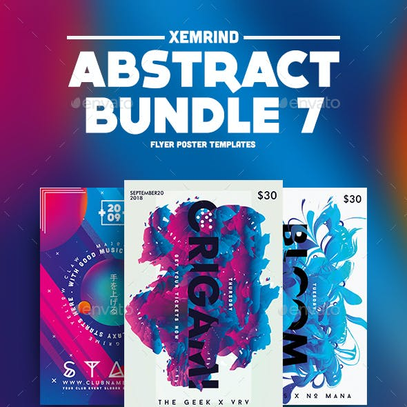Abstract Flyer/Poster Template Bundle 7