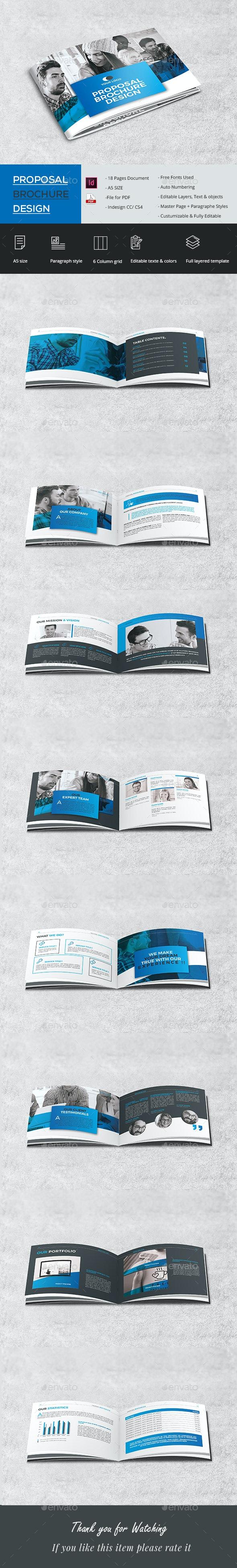 Company Proposal Brochure - Brochures Print Templates