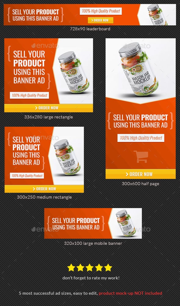 Product Sale Banner Design Template - Banners & Ads Web Elements