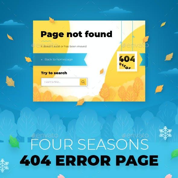 404 Error Page: 4 Seasons