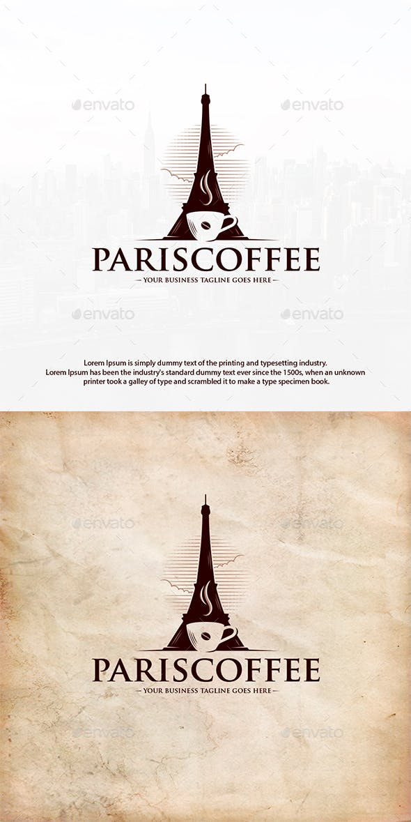 Paris Coffee Logo Template