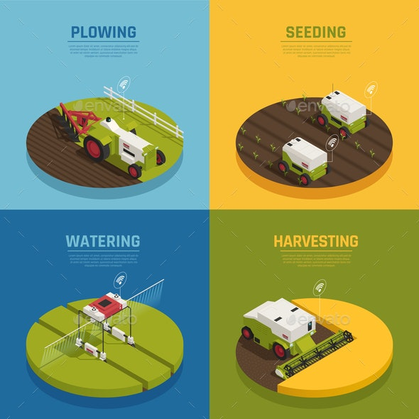 Agriculture Automation Design Concept - Industries Business
