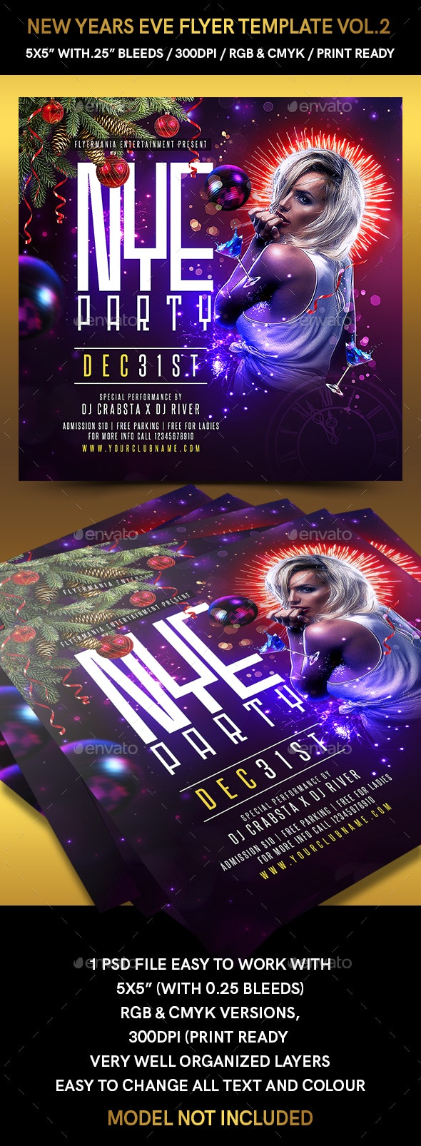 New Years Eve Flyer Template Vol.2 - Flyers Print Templates