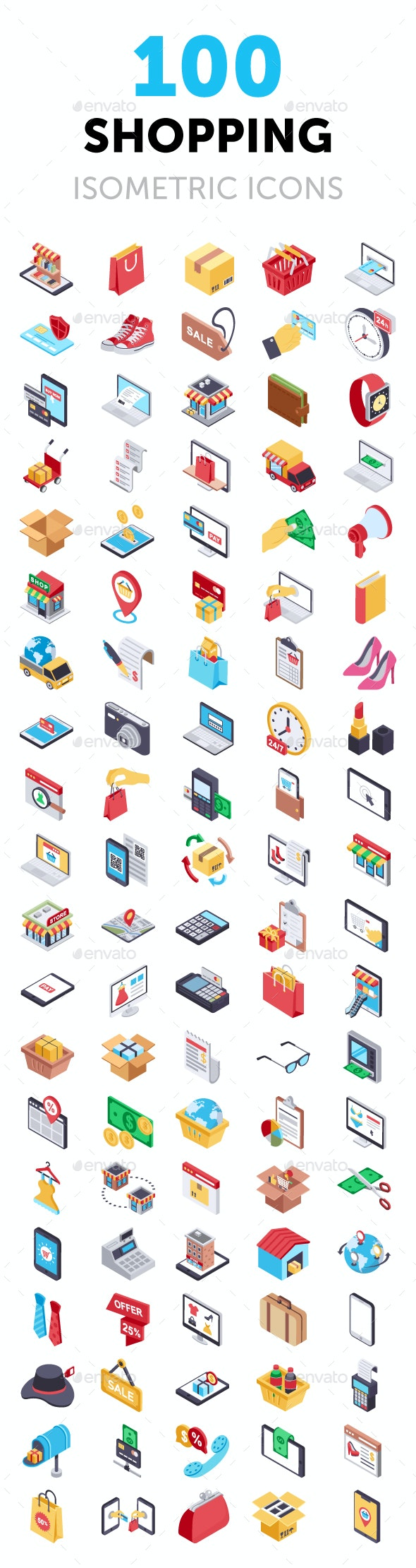 100 Shopping and Commerce Icons - Icons
