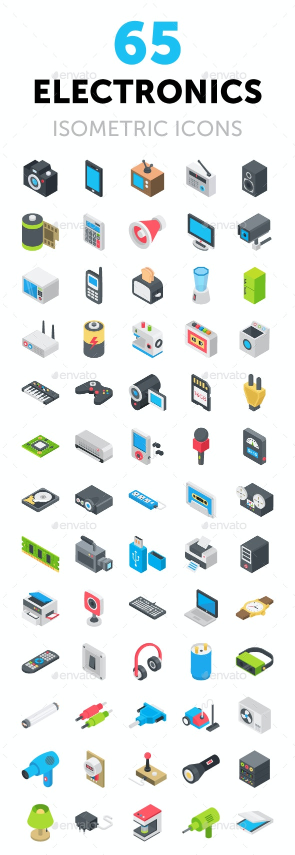 65 Electronic Device Icons - Icons
