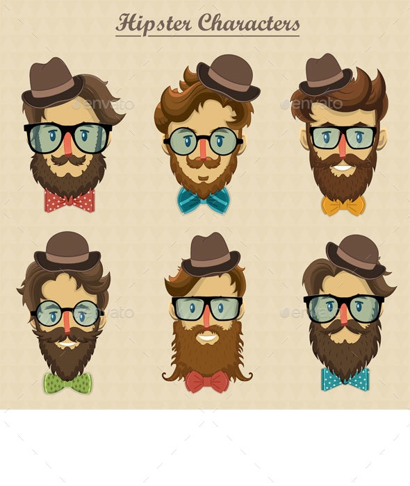 Hipster Characters - People Characters