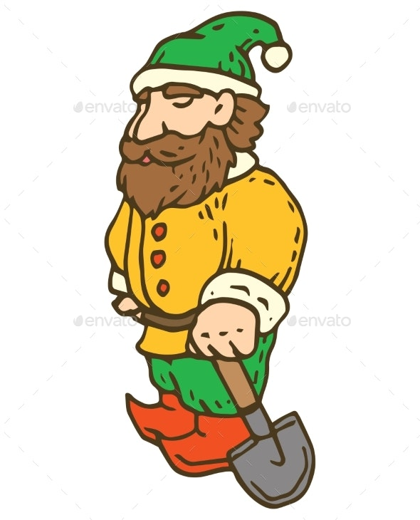 Garden Gnome with Shovel - Miscellaneous Characters