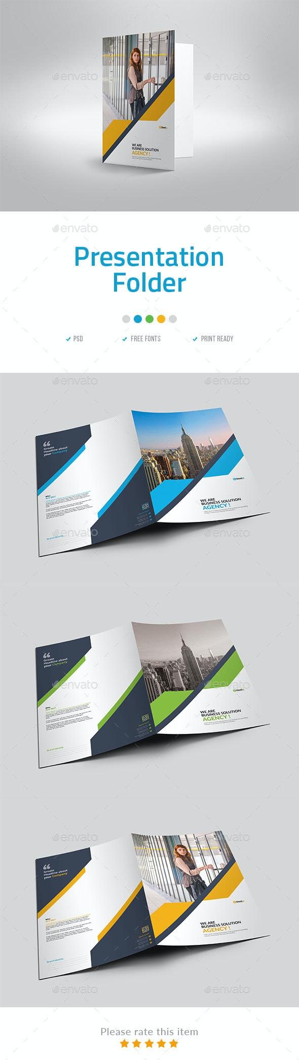 Presentation Folder Template - Stationery Print Templates