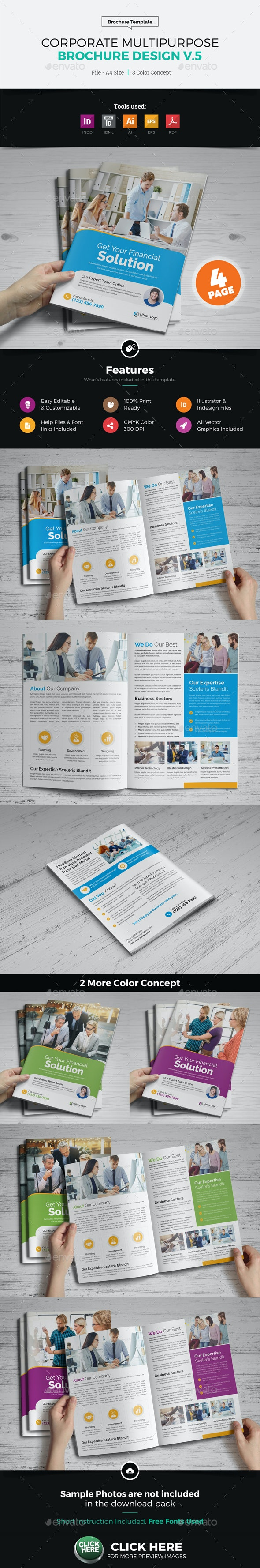 Corporate Multipurpose Brochure Design v5 - Corporate Brochures