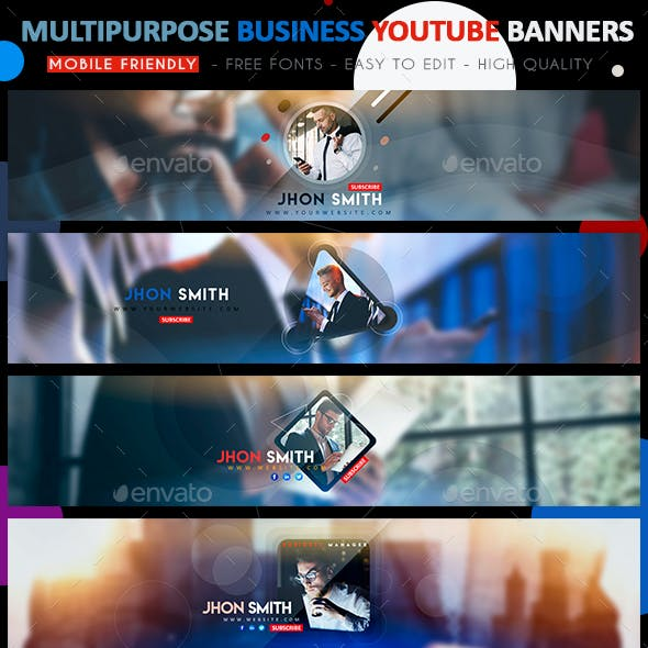 Creative Business YouTube Banners