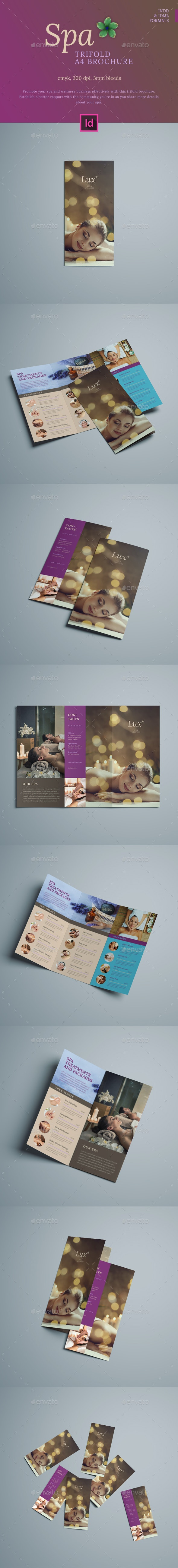 Spa Trifold A4 Brochure - Brochures Print Templates