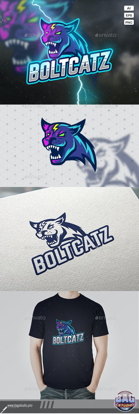Wildcat Sport Logo Template - Animals Logo Templates