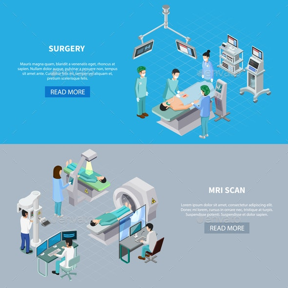 Medical Scanning Equipment Banners - Health/Medicine Conceptual
