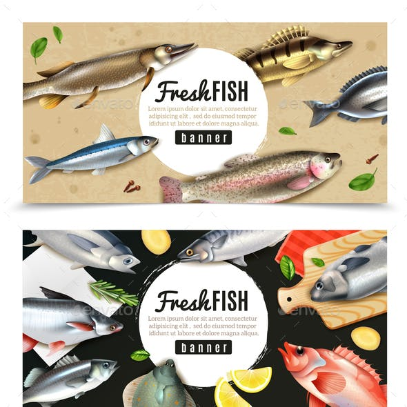Fishes Horizontal Banners