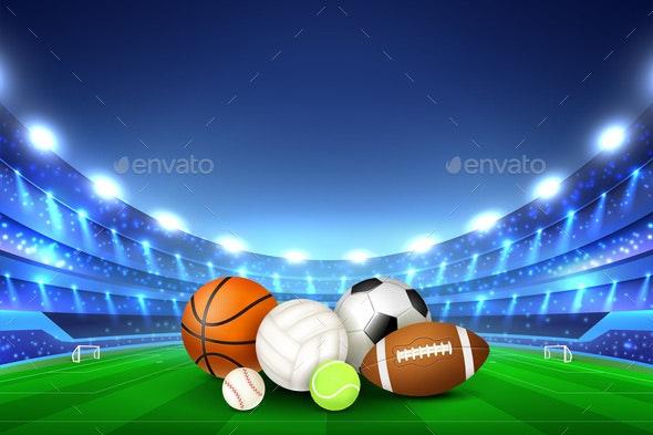 Balls For Team Sport Games - Sports/Activity Conceptual
