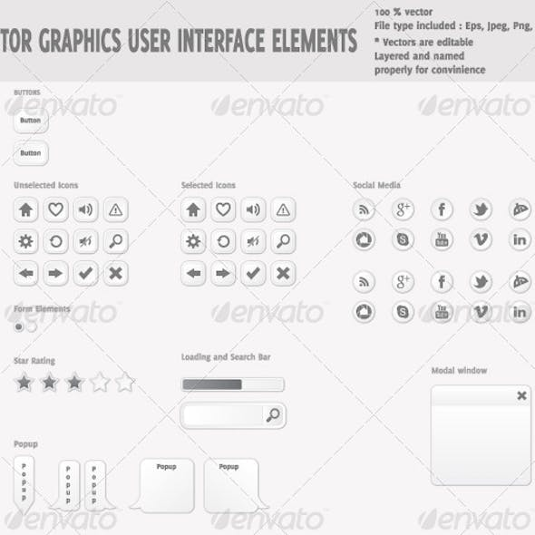 Vector Graphics User Interface Elements