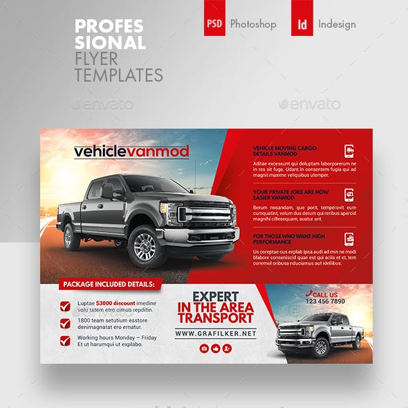 Commercial Vehicle Flyer Templates