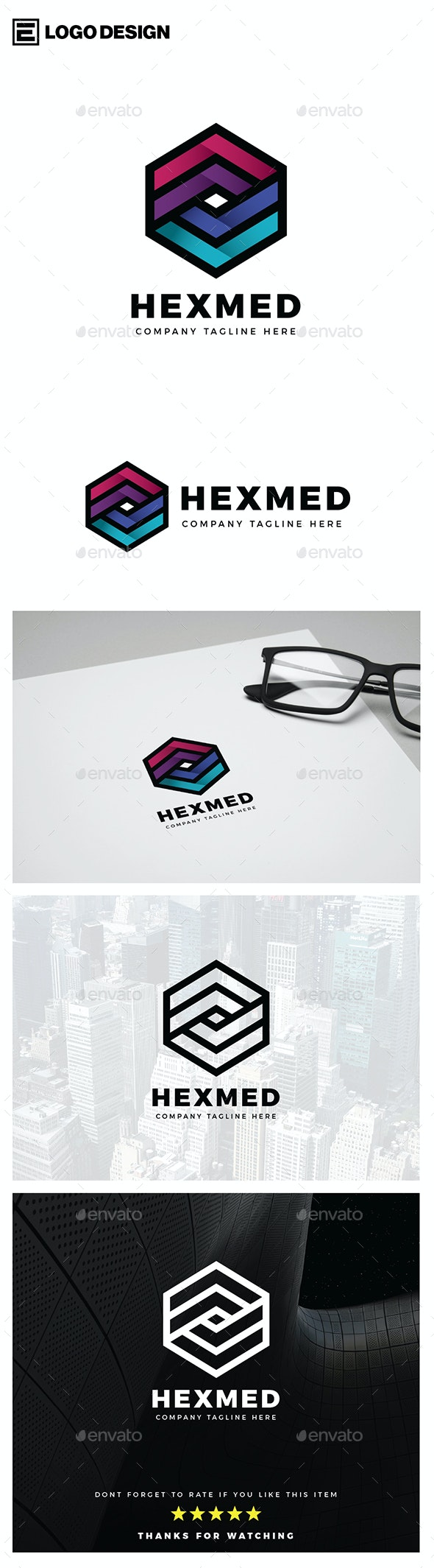 Hexa Media Logo - Abstract Logo Templates