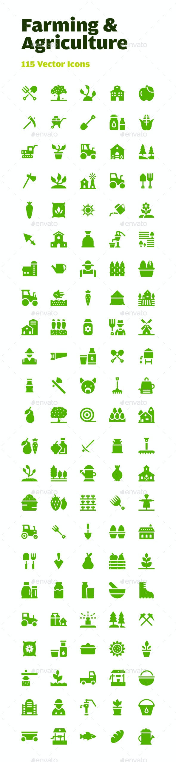 115 Farming and Agriculture Icons - Icons