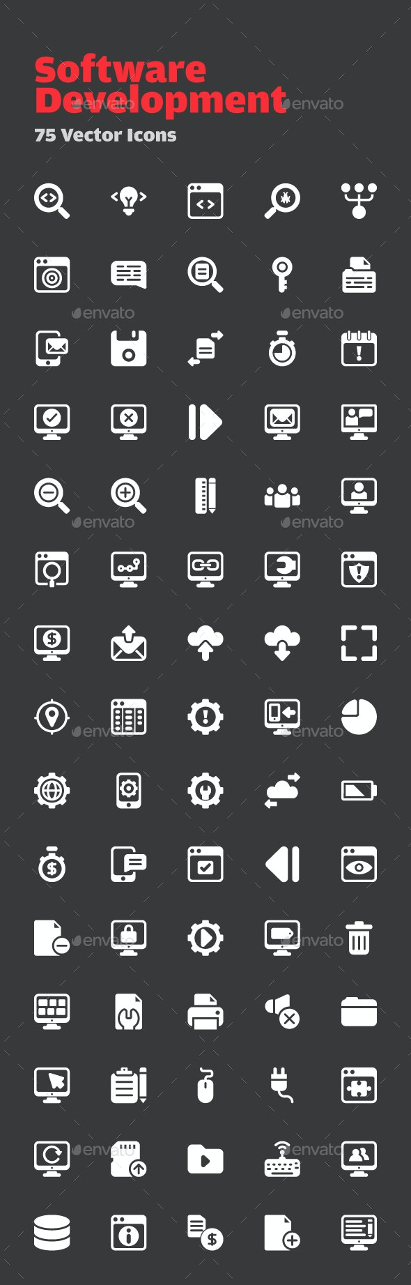 72 Software Development Vector Icons - Icons