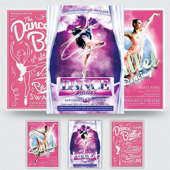 Dance Ballet Flyer Bundle
