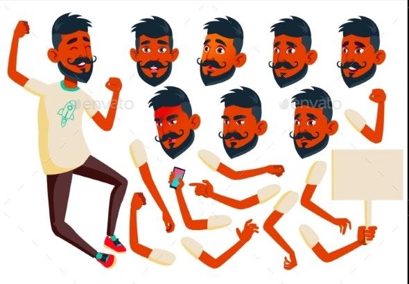 Teen Boy Vector. Indian, Hindu. Asian. Teenager - People Characters