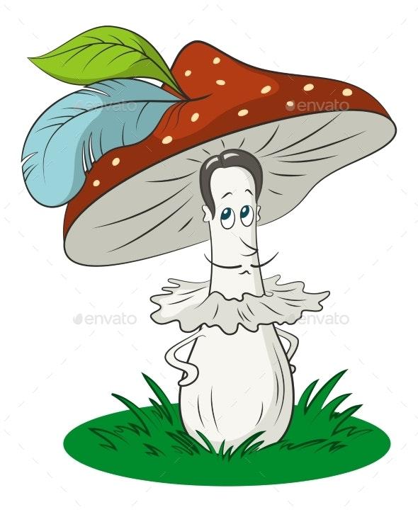 Cartoon Mushroom - Miscellaneous Characters