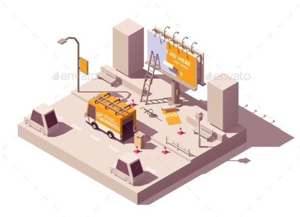 Vector Isometric Billboard Fixing - Buildings Objects