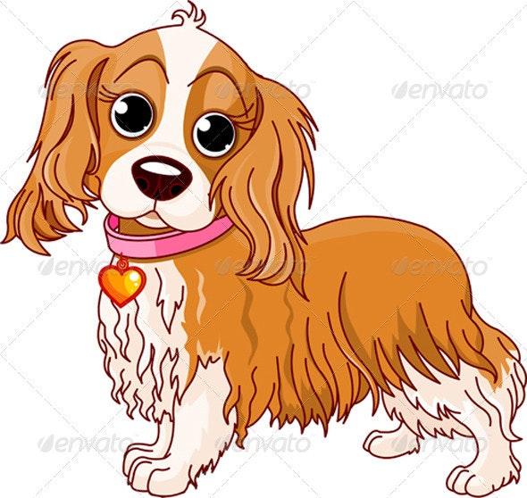 Cavalier King Charles Spaniel dog - Animals Characters