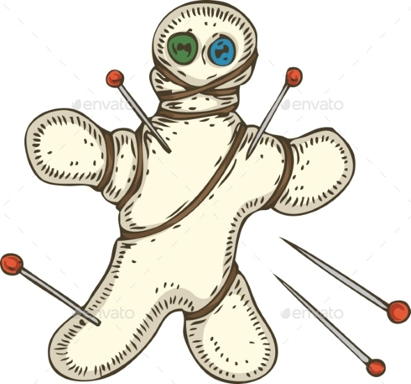 Voodoo Doll with Pins - Halloween Seasons/Holidays