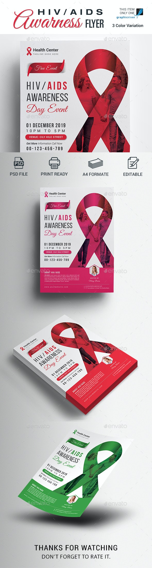 AIDS Awareness Flyer - Events Flyers