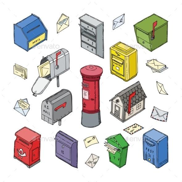 Mailbox Vectors - Miscellaneous Vectors