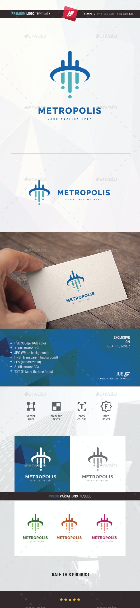Metropolis Logo - Symbols Logo Templates