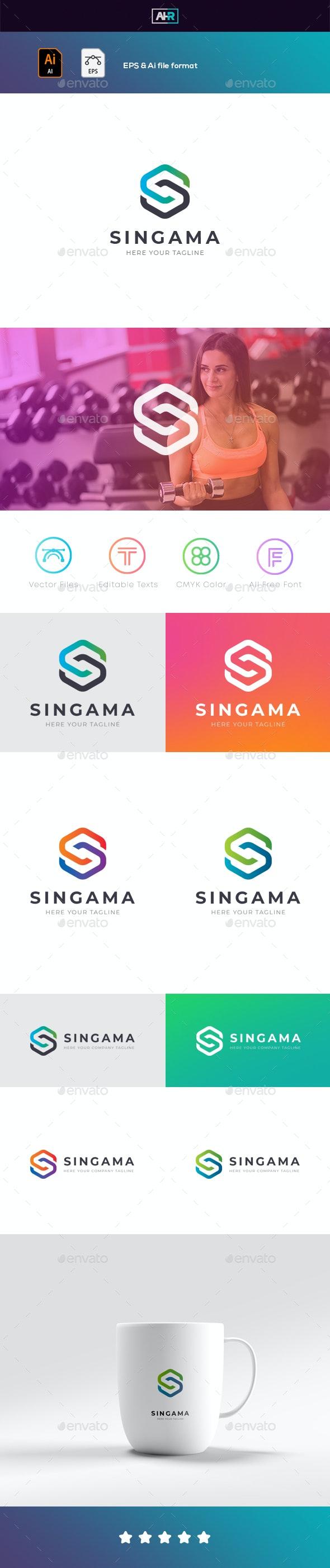 S Letter / SINGAMA Logo - Letters Logo Templates