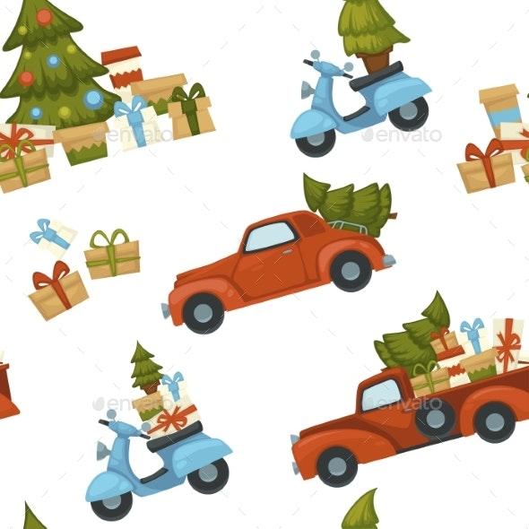 Merry Christmas Winter Holiday Celebration - Seasons/Holidays Conceptual