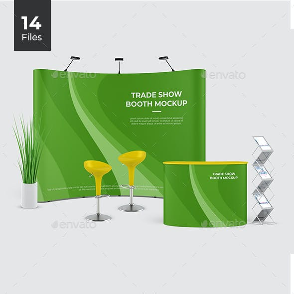 Event Stand / Trade Show Booth Mockup / Pop Up Stand