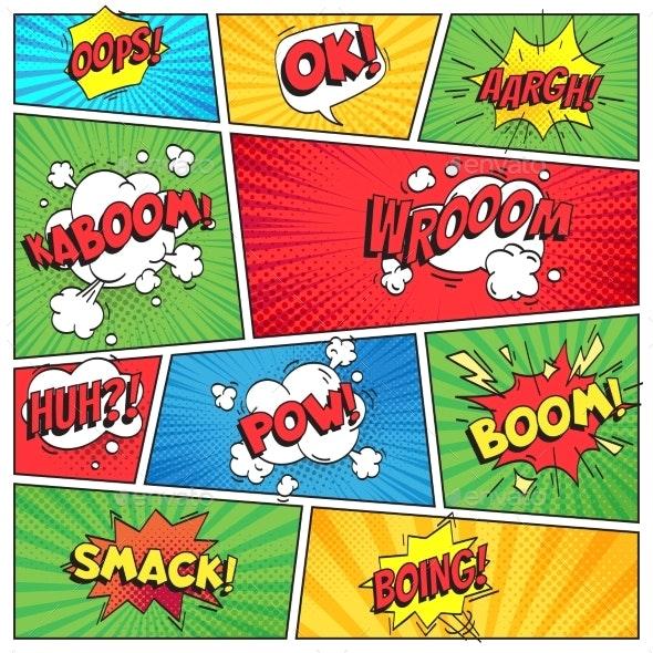 Comics Page - Backgrounds Decorative