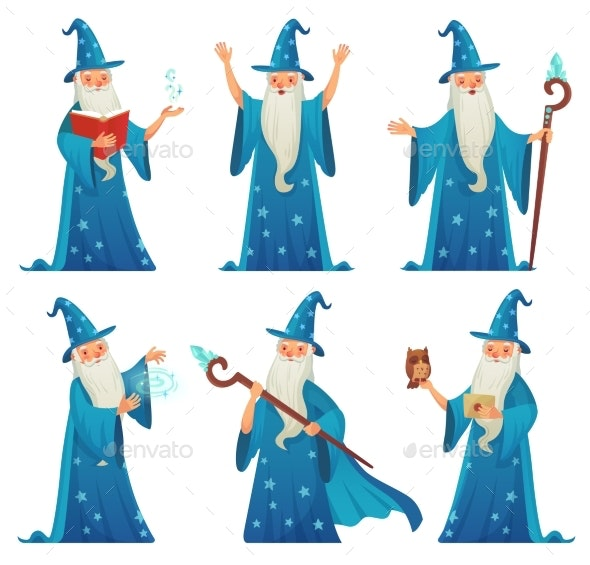 Cartoon Wizard Character - People Characters