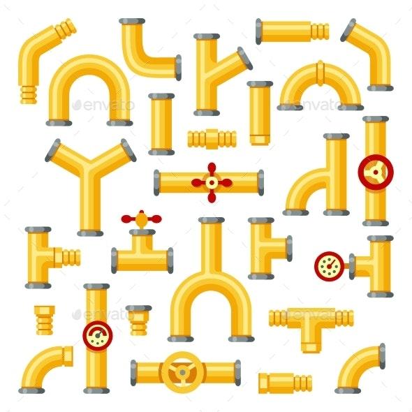 Gas Pipeline - Miscellaneous Vectors