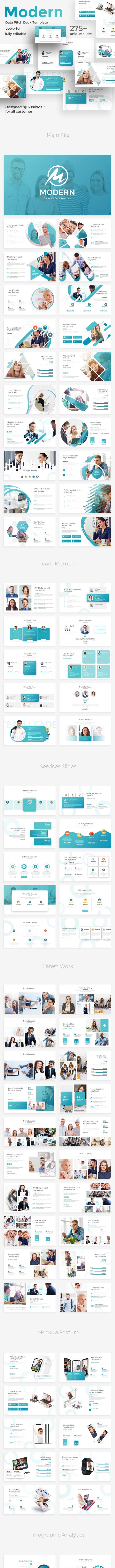Modern Data Pitch Deck Google Slide Template - Google Slides Presentation Templates