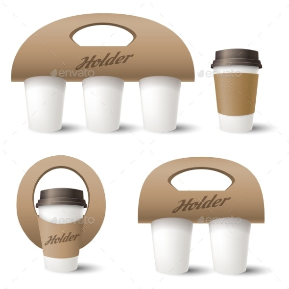 Coffee Cup Holder - Food Objects