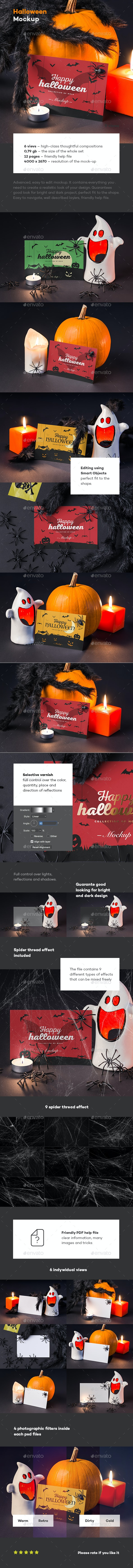 Halloween Card Mock-up - Miscellaneous Print