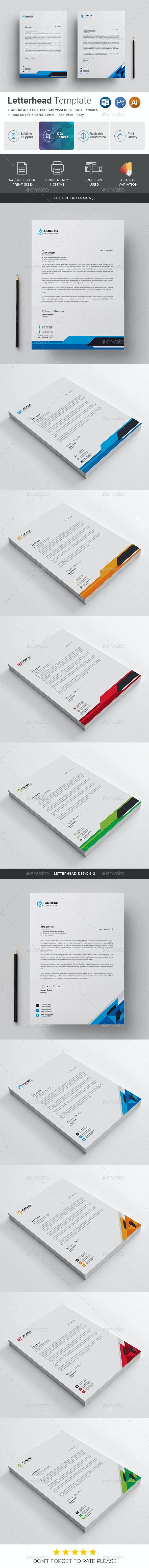 Creative Letterhead Template - Stationery Print Templates