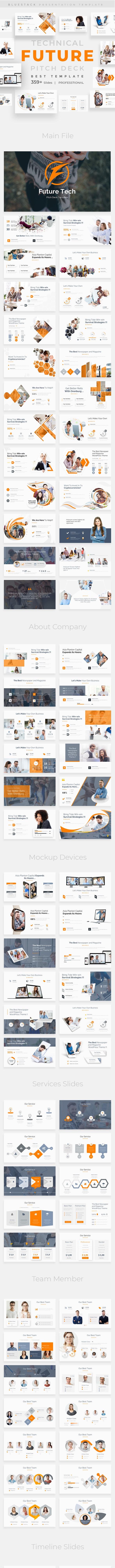 Future Tech Pitch Deck Powerpoint Template - Business PowerPoint Templates