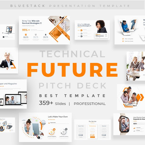 Future Tech Pitch Deck Powerpoint Template