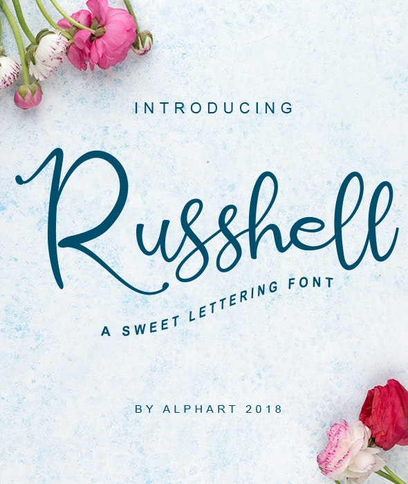 Russhell a sweet lettering font - Hand-writing Script
